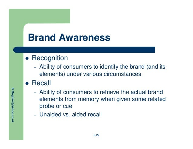 the impact of cueing on recall of brands essay Impact of advertising on brand awareness and consumer preference (with special reference to wwwiosrjournalsorg.