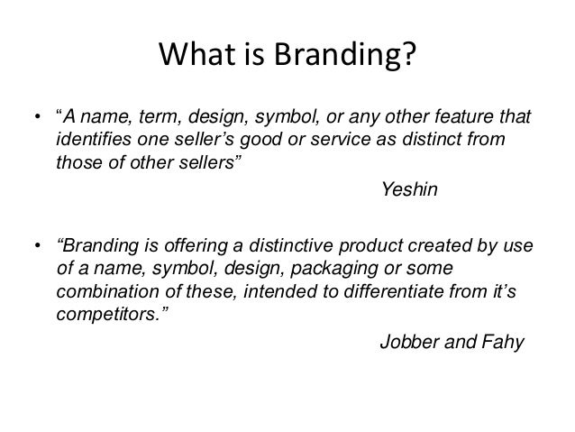 principle of branding When most people think of branding, content isn't usually the first thing that comes to mind they typically think of logos, color schemes and taglines - those elements that are used to represent.