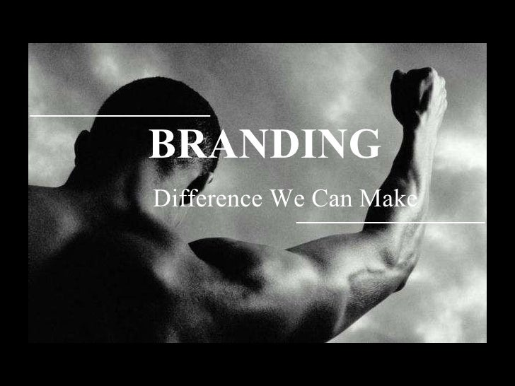 BRANDING    Difference We Can Make