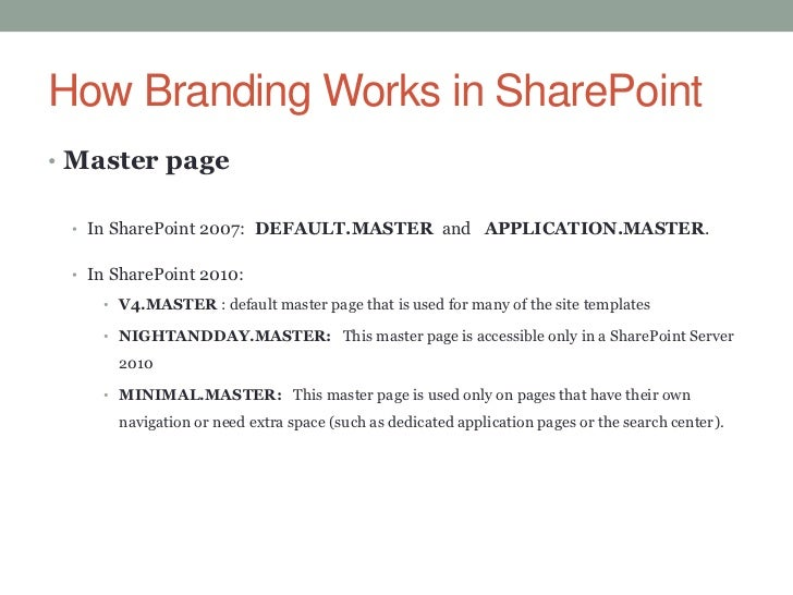Branding sharepoint project for Sharepoint 2010 branding templates