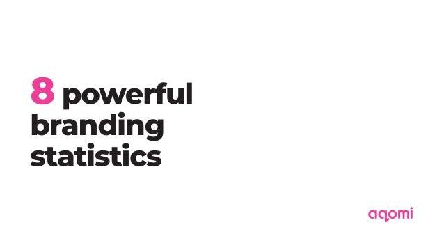 8 Powerful Branding statistics - Aqomi