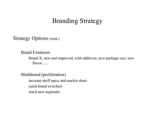 Branding strategy options