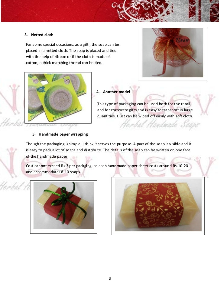 3. Netted clothFor some special occasions, as a gift , the soap can beplaced in a netted cloth. The soap is placed and tie...