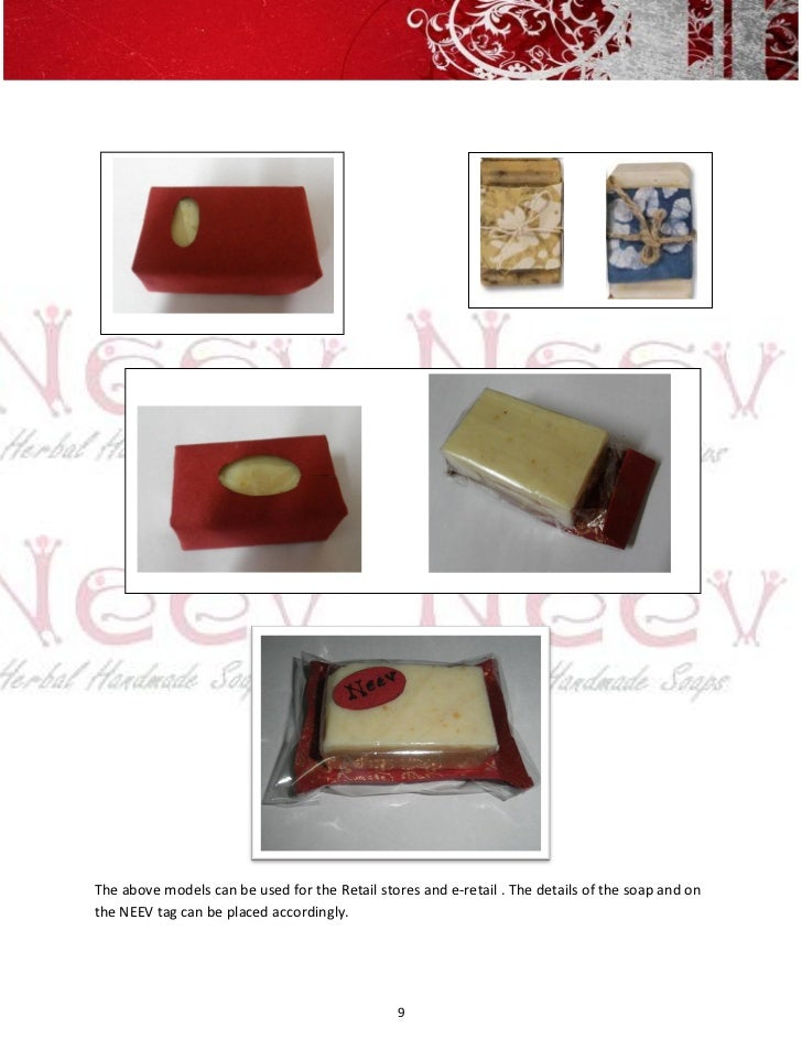 The above models can be used for the Retail stores and e-retail . The details of the soap and onthe NEEV tag can be placed...