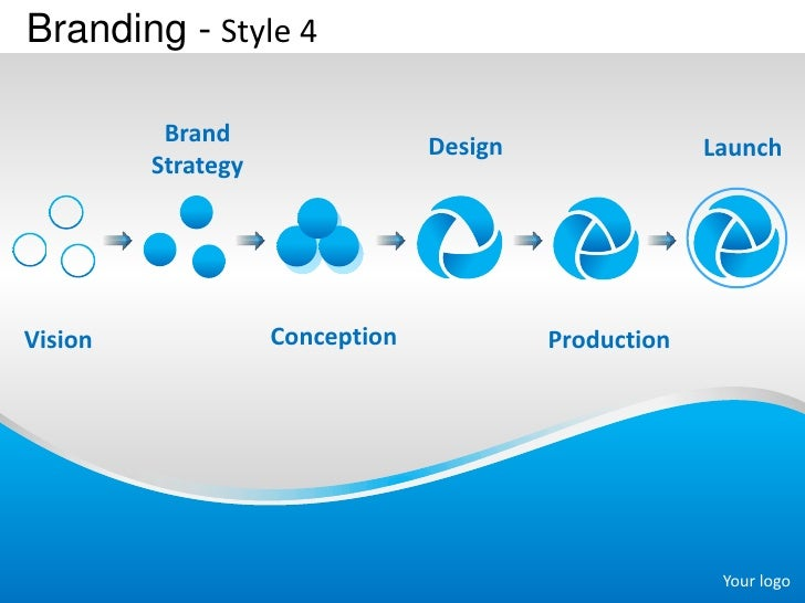 Branding - Style 4          Brand                                 Design                Launch         StrategyVision     ...