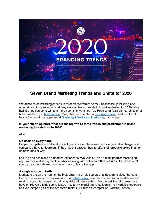 Branding Trends 2020.Branding Trends 2020 Weinheimer Group Brandmarkable Blog 09