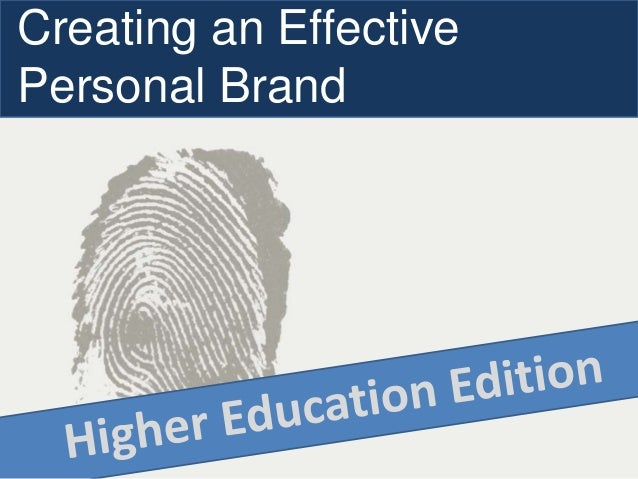 Creating an Effective Personal Brand