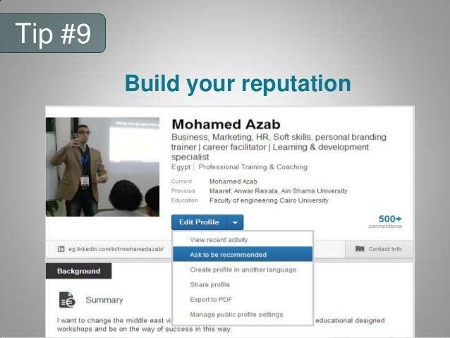 Tip #7 View HR Recent activity
