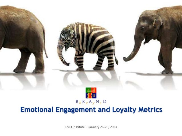 Emotional Engagement and Loyalty Metrics CMO Institute – January 26-28, 2014