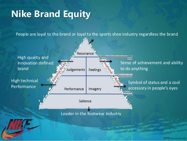 nike brand equity Sources of brand equity of nike are brand association with famous american athletes, sponsorship programs for major sports events in the us, their massive and .