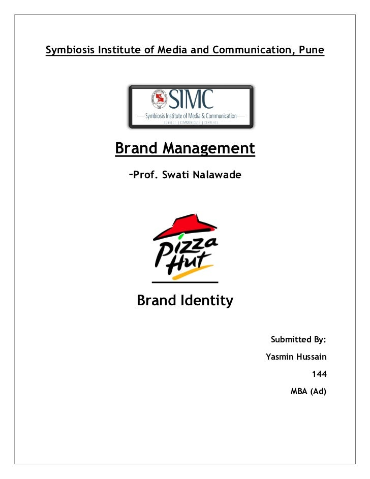 Symbiosis Institute of Media and Communication, Pune                   Brand Management                      -Prof...