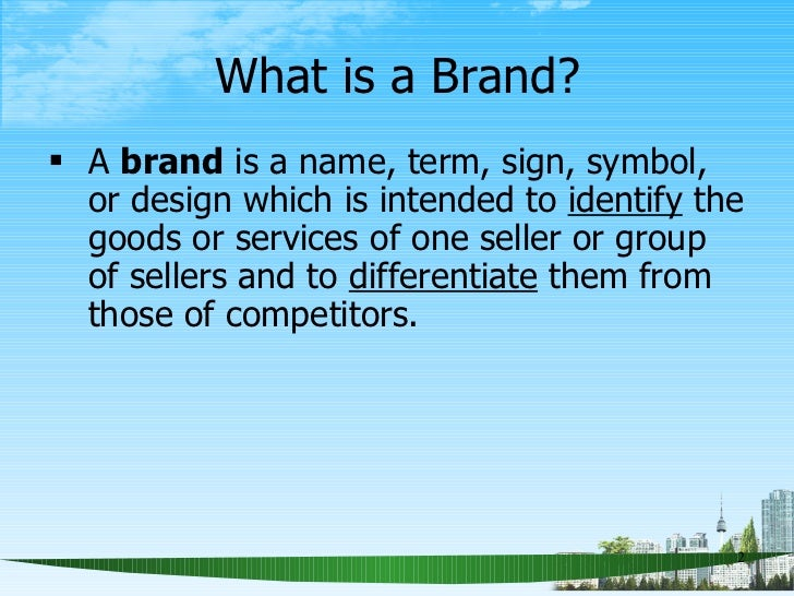 Brand Management Ppt