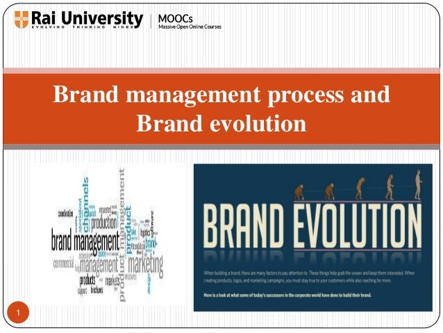 1  Brand management process and  Brand evolution