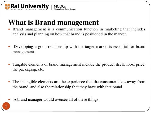 Brand Management Process and Brand Evolution - Introduction to Branding Slide 2