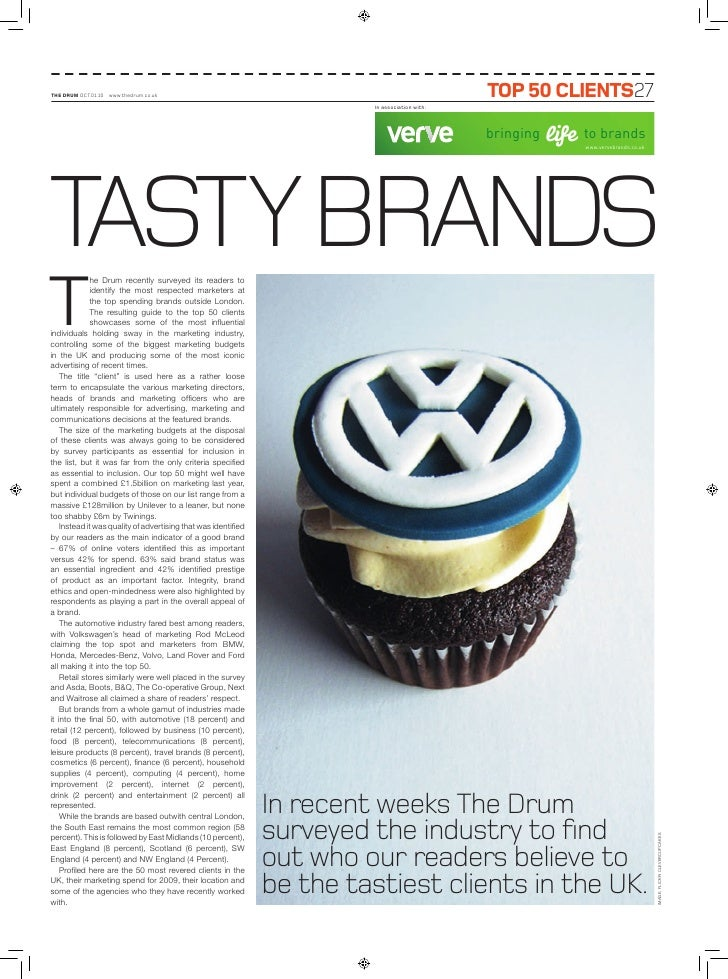 THe DRUM OCT.01.10 www.thedrum.co.uk                                                            Top 50 ClienTs27          ...