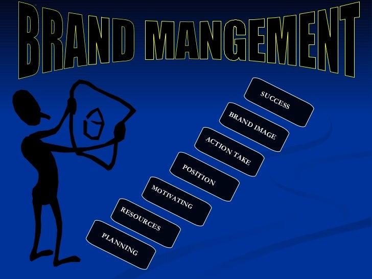 SUCCESS BRAND MANGEMENT PLANNING RESOURCES MOTIVATING POSITION ACTION TAKE BRAND IMAGE