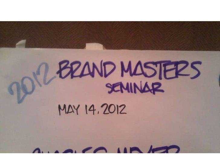 BrandMasters – A Graphic Summary