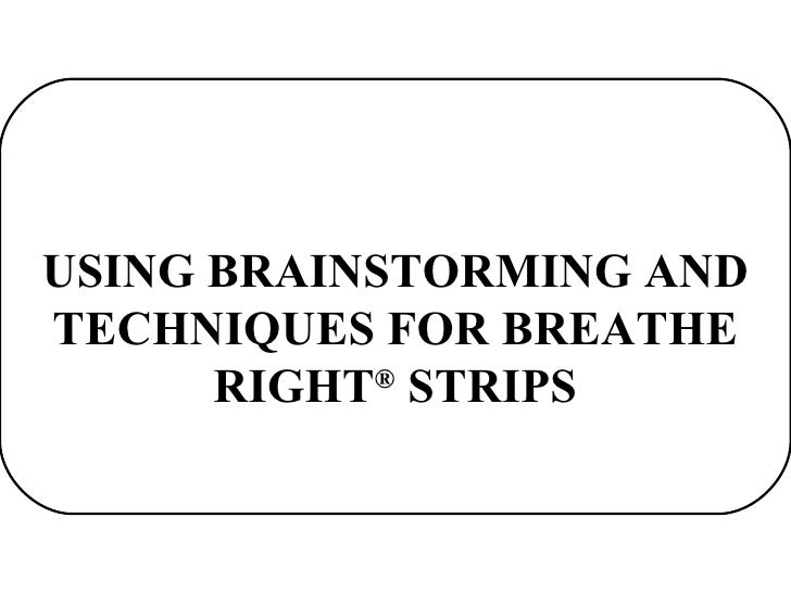 cns breathe right essay Video case 7 cns breathe right strips: going global what are the advantages and disadvantages for cns taking breathe right strips into international markets.