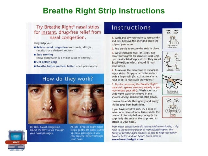 breathe right strips instructions