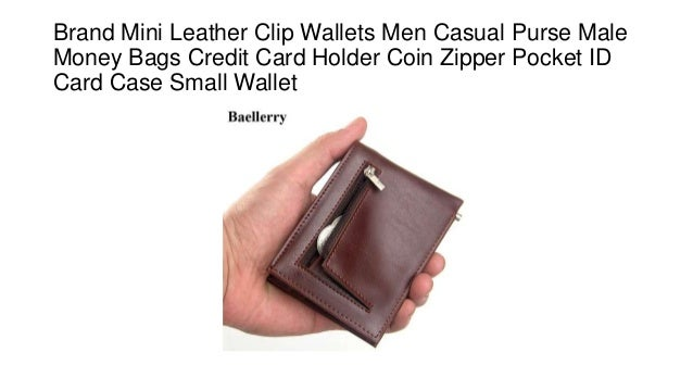 Brand Leather Wallet Money Clip Multifuction Men Small Purse Credit Card Holder