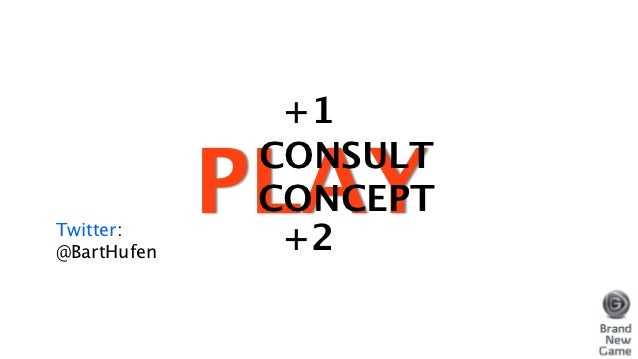 +1             PLAY              CONSULT              CONCEPTTwitter:@BartHufen     +2