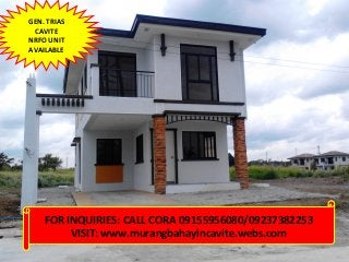 Brand New House And Lot For Sale Asmara Model In Gentri Heights Subd