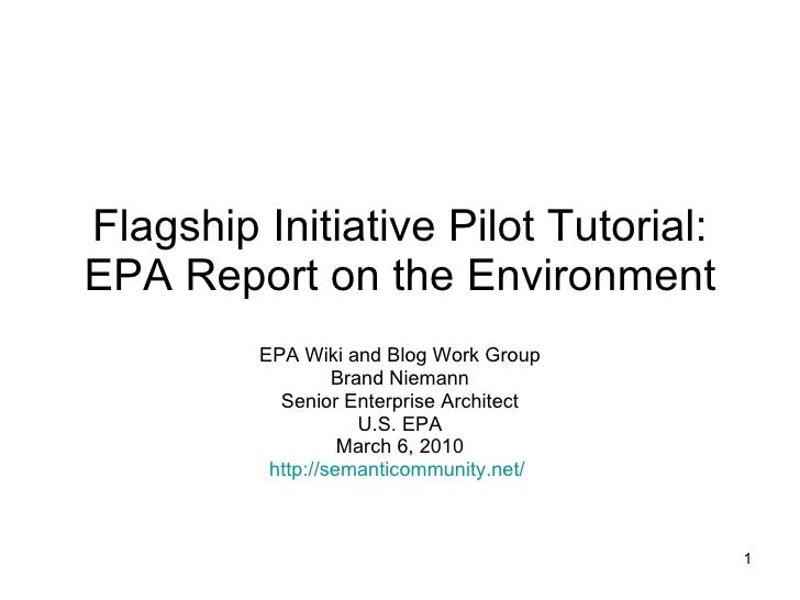 Data Quality Plan Pilot Tutorial: EPA Report on the Environment Scientific Data Management Workshop Planning Group Brand N...