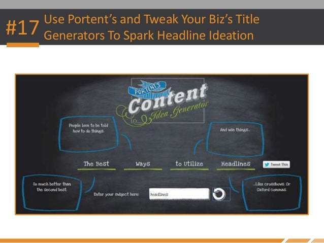 How to create incredibly catchy titles for blog posts for Portent title generator