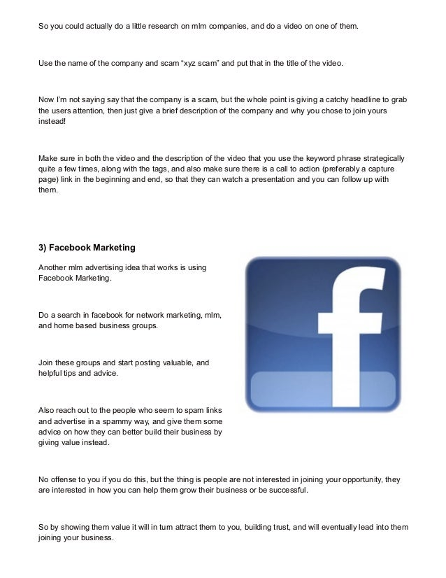 MLM Advertising Ideas That Work Now - 3 Free Ideas!