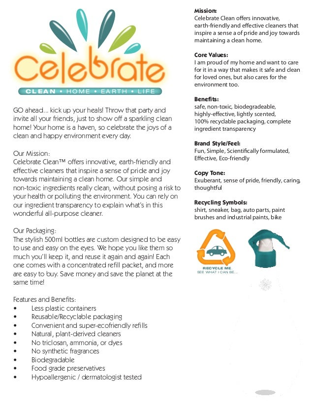 Mission:                                                               Celebrate Clean offers innovative,                 ...