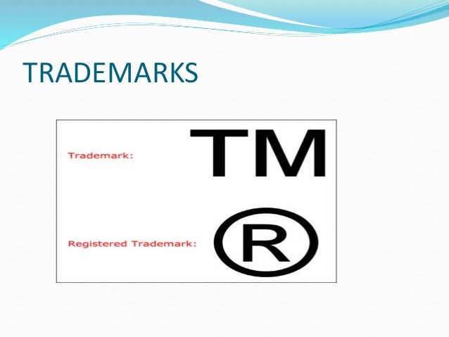 EXAMPLE OF TRADEMARKS