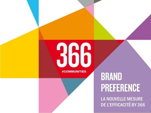 LA NOUVELLE MESURE DE L'EFFICACITÉ BY 366