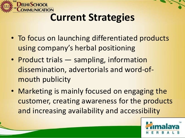 marketing plan herbal company himalaya herbals These offices manage and monitor the marketing and distribution of the himalaya range to 88 countries india the himalaya drug company makali, bengaluru - 562 162, india t: +91-80 2371 4444 / +91-80 the himalaya drug company (pty) ltd yellow wood place, woodmead business park 145 western.
