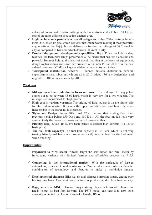 Bajaj Competitive Analysis