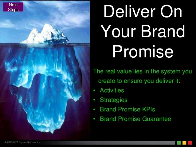 © 2012-2015 Rhythm Systems, Inc. Deliver On Your Brand Promise The real value lies in the system you create to ensure you ...