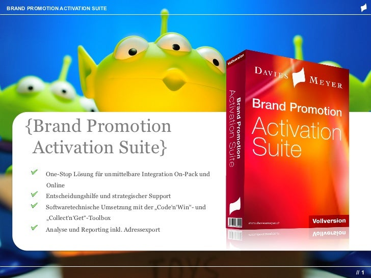 BRAND PROMOTION ACTIVATION SUITE     {Brand Promotion     {Activation Suite}       !    One-Stop Lösung für unmittelbare I...