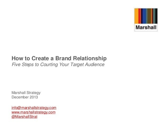 How to Create a Brand Relationship Five Steps to Courting Your Target Audience  Marshall Strategy December 2013 info@marsh...