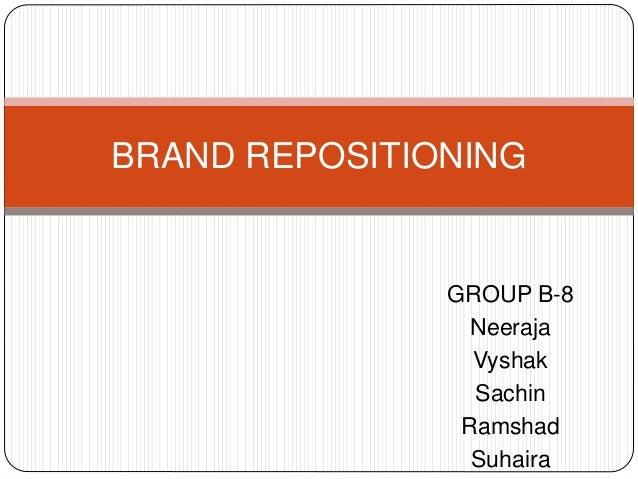 GROUP B-8 Neeraja Vyshak Sachin Ramshad Suhaira BRAND REPOSITIONING