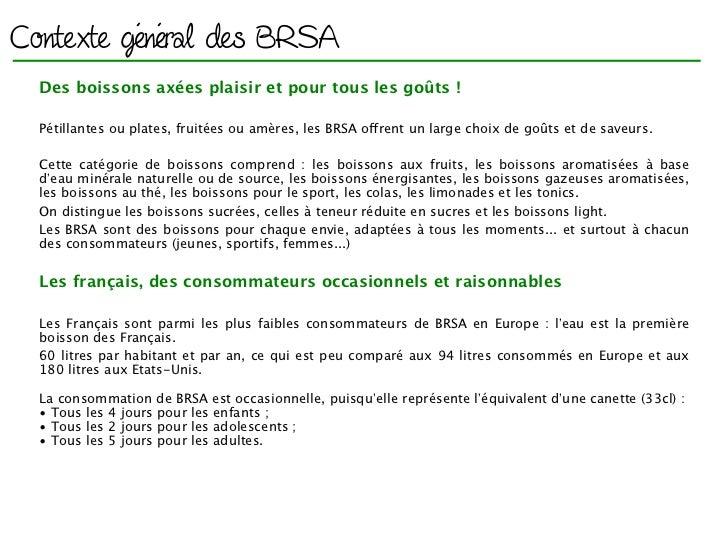 Contexte général des BRSA  Des boissons axées plaisir et pour tous les goûts !                                            ...