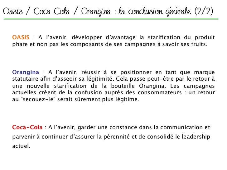Brand Review - Oasis / Coca Cola / Orangina - Version ecrite