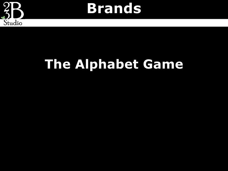 BrandsThe Alphabet Game