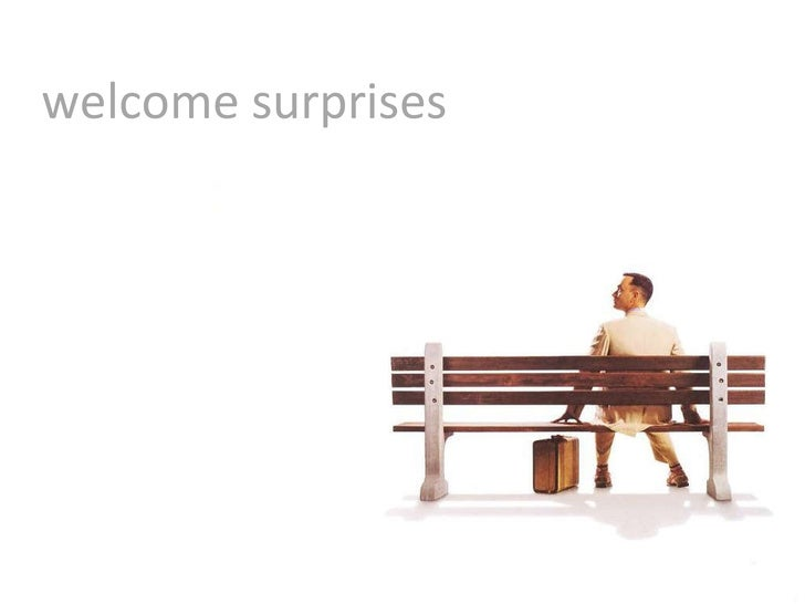 welcome surprises