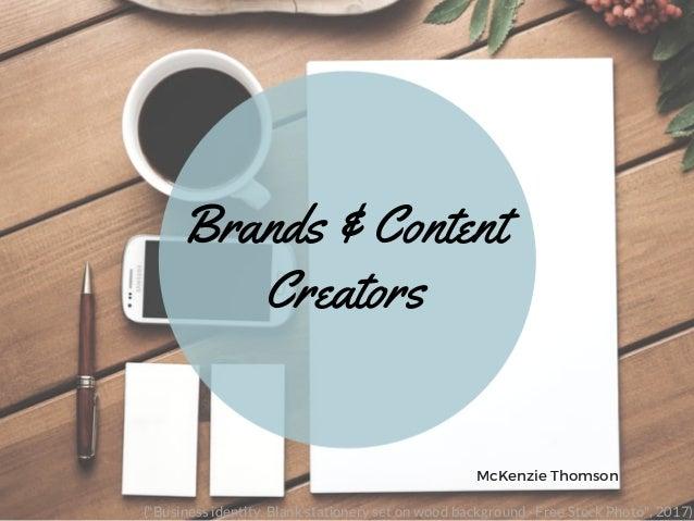 "Brands & Content Creators McKenzie Thomson (""Business identity. Blank stationery set on wood background · Free Stock Photo..."