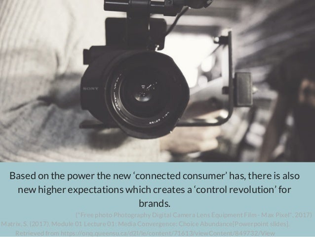 Based on the power the new 'connected consumer' has, there is also new higher expectations which creates a 'control revolu...