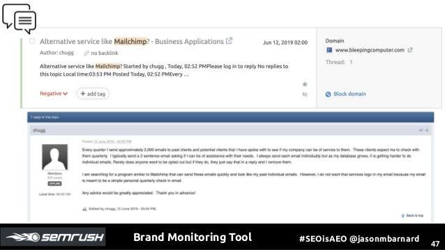 Brand Monitoring SEMrush ToolBox by Jason Barnard