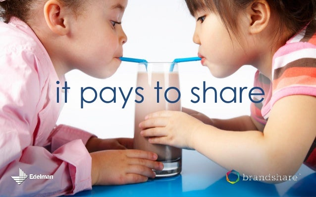 it pays to share