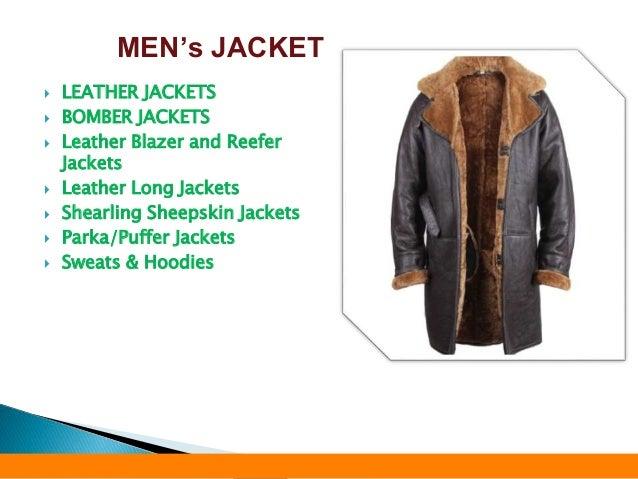  LEATHER JACKETS  BOMBER JACKETS  Leather Blazer and Reefer Jackets  Leather Long Jackets  Shearling Sheepskin Jacket...