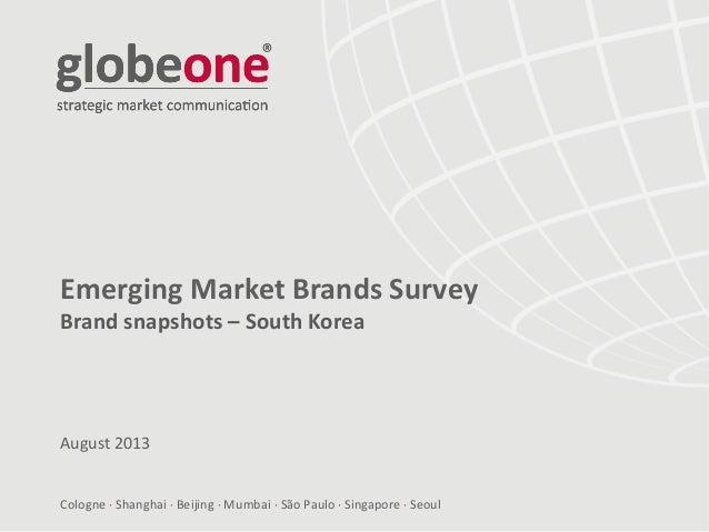 Cologne  Shanghai  Beijing  Mumbai  São Paulo  Singapore  Seoul Emerging Market Brands Survey Brand snapshots – Sout...