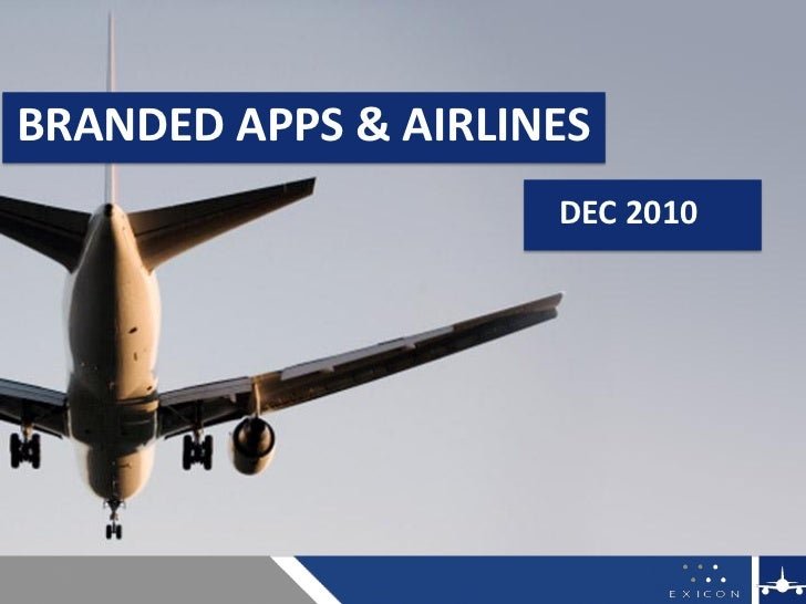 Branded Apps & Airlines - Dec 2010