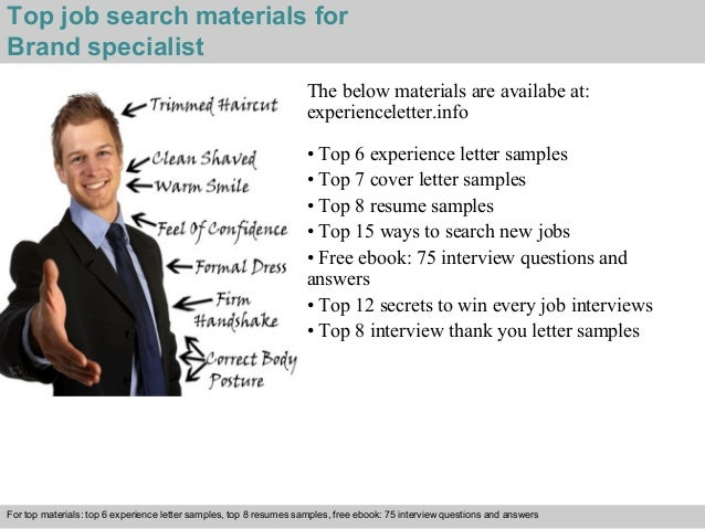 4 top job search materials for brand specialist - Branding Specialist Sample Resume